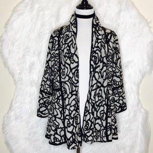 Madison Black & Gray Reversible Cardigan